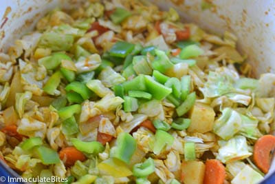 Ethiopian Stewed Cabbage