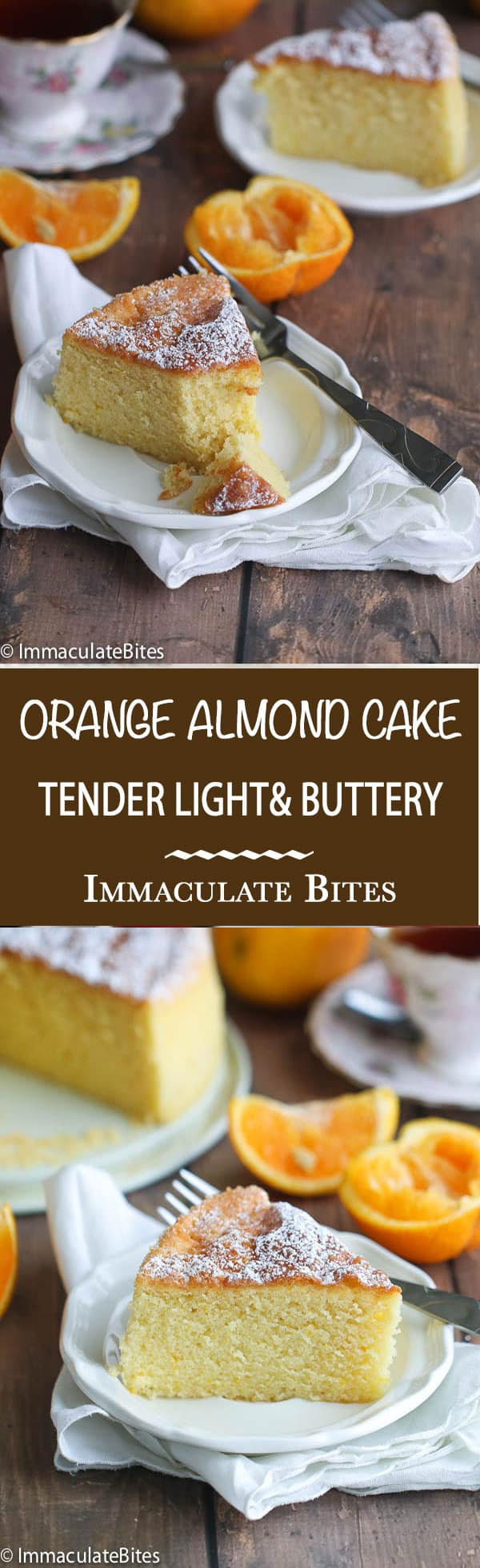 Orange Almond Butter Cake- A tender, buttery melt in your mouth cake. Add this to your cake repertoire – the taste is irresistible.