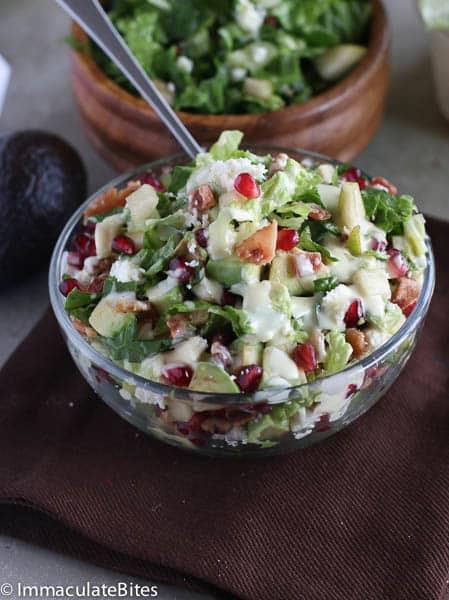 Avocado,pomegranates and pecan salad