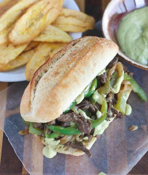 Steak and pepper sandwich