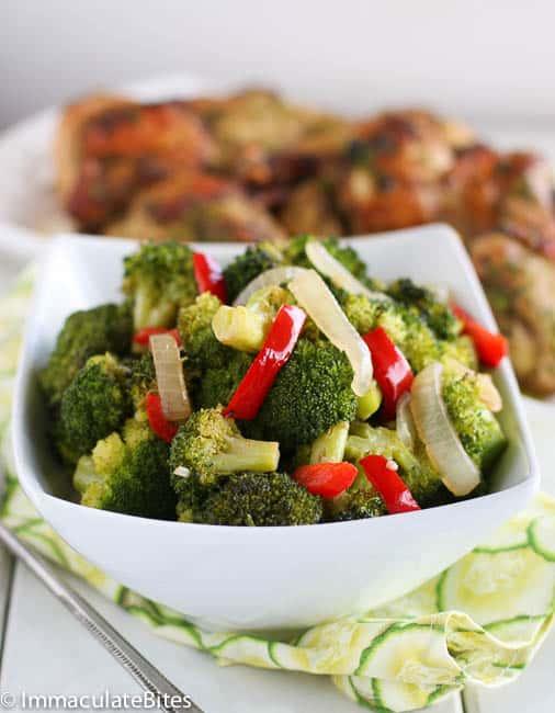 Spicy Roast garlic broccoli