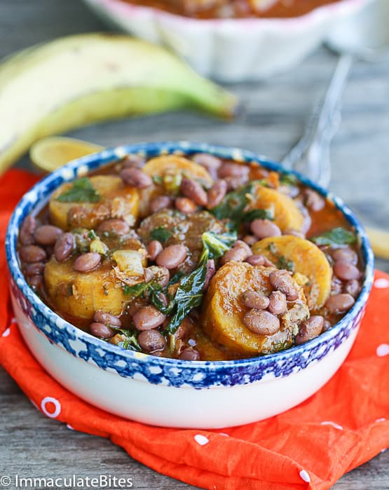 Plantain and beans
