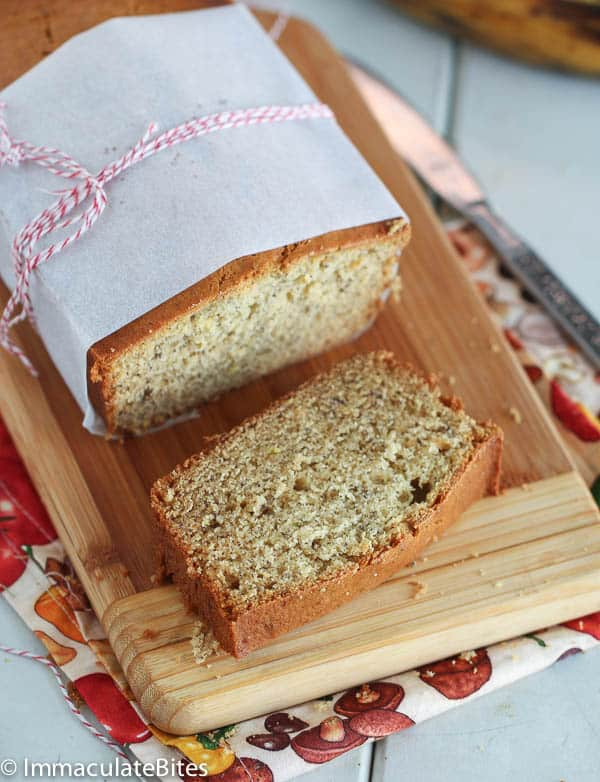 Beautifully wrapped plantain cake/bread