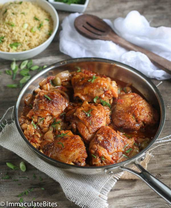 Moroccan slow cooker chicken thighs