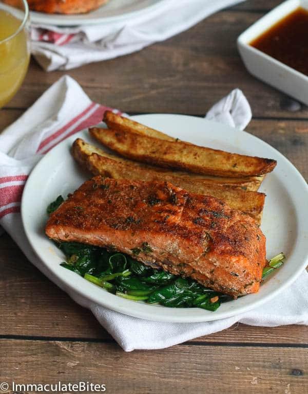 Jerk Salmon and Potatoes