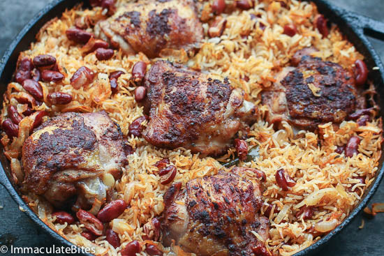 One Pot Caribbean Jerk Chicken Amp Rice Immaculate Bites