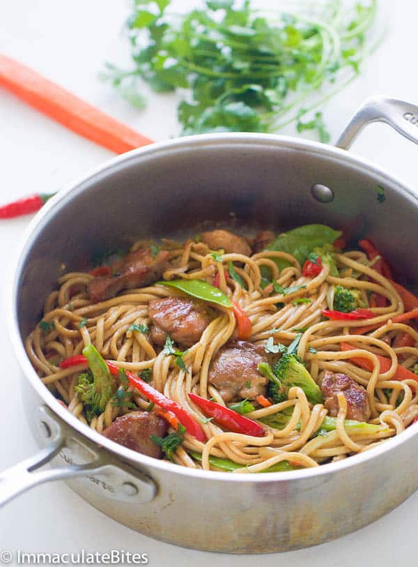Caribbean style chow mein immaculate bites chow mein caribbean style forumfinder Gallery
