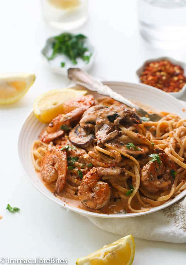 Creamy Jerk Shrimp Spaghetti