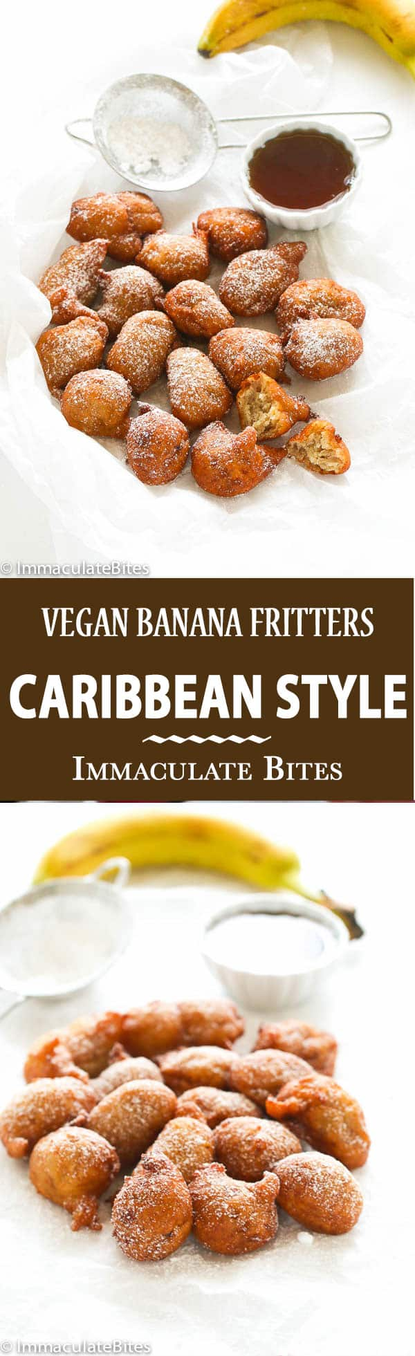 Make these melt in your mouth Vegan Caribbean Banana Fritters. And watch it disappear! Simple and Delicious!