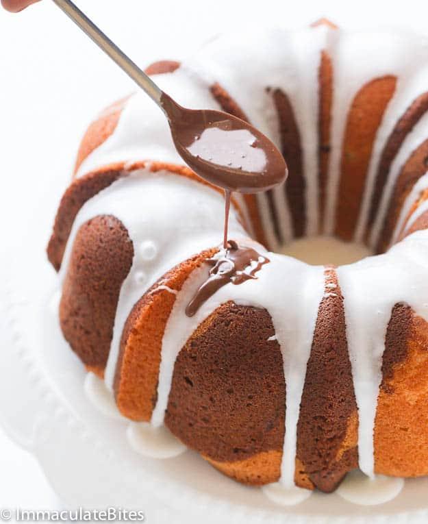 Chocolate Rum Marble Cake