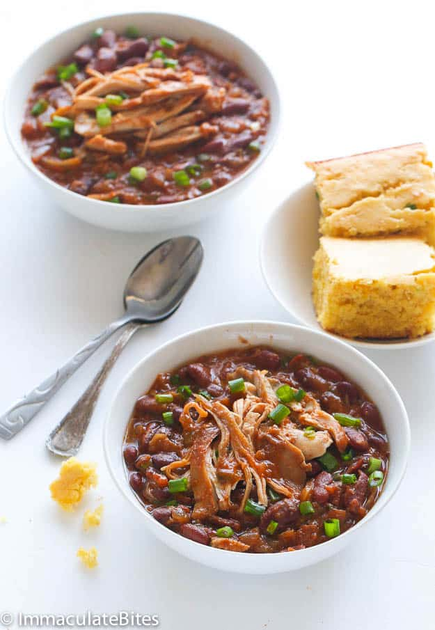 Slow Cooker Chicken and Beans Stew