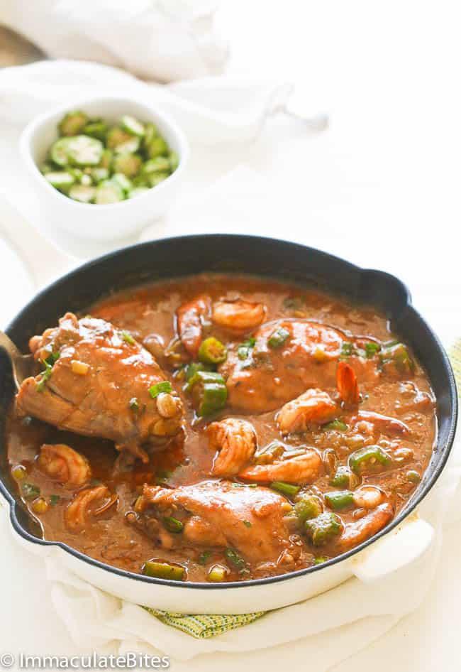 Chicken Shrimp and Okra Gumbo